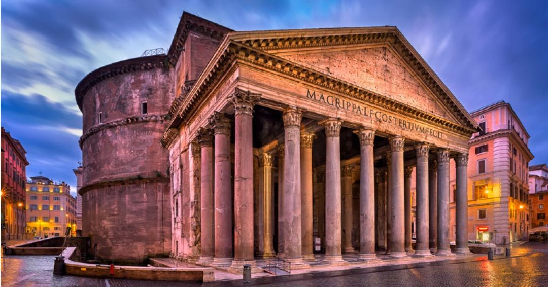 بنای پانتئون در رم - شرکت هواپیمایی پاژسیر مجری تورهای اقساطی از مشهد