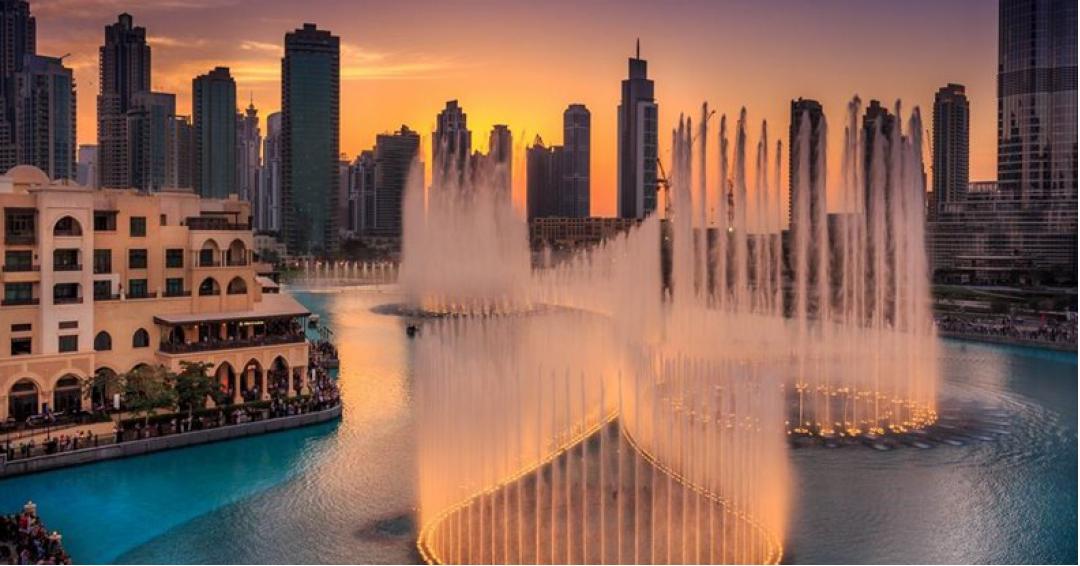 فواره های موزیکال دبی - شرکت هواپیمایی پاژسیر مجری تورهای اقساطی از مشهد